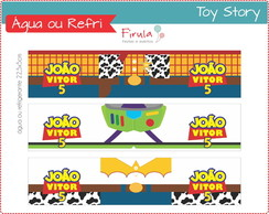 Kit Digital R�tulo �gua Toy Story