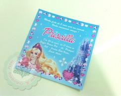 Convite Paris - Barbie Castelo Diamante