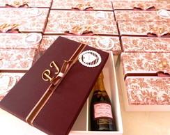 Caixa padrinhos p/ baby chandon e doces