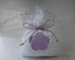 Lembrancinha sach� Flor lil�s