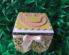 Caixinha De acr�lico 5x5x5 Princesas