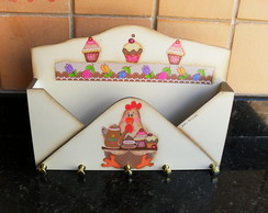Porta Chaves E Cartas Cupcake