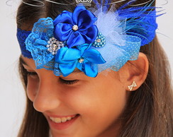00427 Headband em Renda Royal