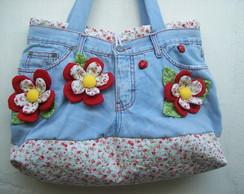 "Bolsa Jeans ""Flowers"""