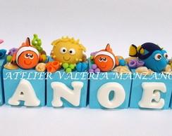 Topo De Bolo Em Cubos Tema Nemo