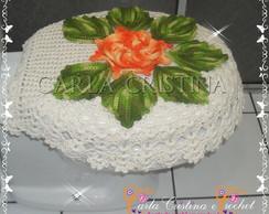 Capa Para Tampa De Vaso Flor Segredo