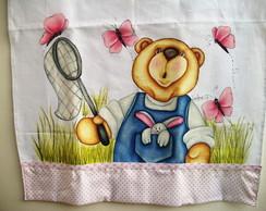 Pano De Copa Urso com Borboletas