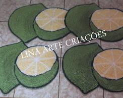 Jogo De Tapetes Lim�o Recortado 2