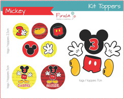 Kit Digital Toppers Mickey Mouse