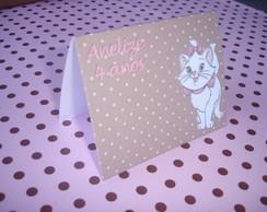 Tag de mesa - Gatinha Marie