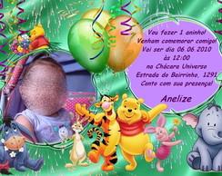 Convite de anivers�rio - Ursinho Pooh