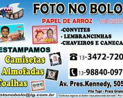 PAPEL DE ARROZ COM FOTO