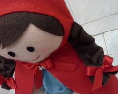 boneca chapeuzinho vermelho em feltro