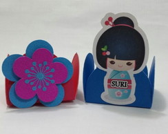 Forminhas para doces Kokeshi