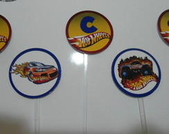 Topper p/ docinhos/cupcakes - Hot Wheels