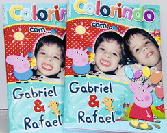 Revista colorir Peppa Pig