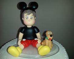 Topo de bolo Menino  Mickey