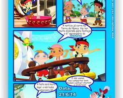 Jake e os Piratas Convite Gibi