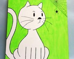 Quadro Gato e Aranha