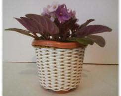Vaso Mini para Violetas marrom