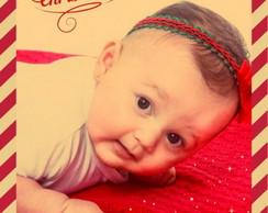 Faixa natalina c/ la�o vermelho