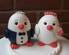 Noivinhos topo de bolo passarinhos