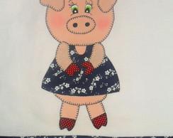 Pano De Prato Pretty Piggie II