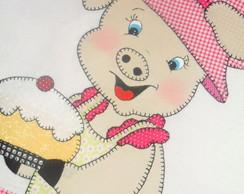 Pano De Prato Pretty Piggie III
