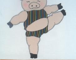 Pano De Prato Pretty Piggie IV