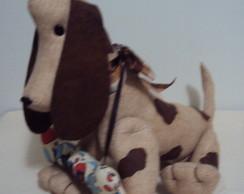 Cachorro de tecido articulado
