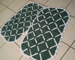 Jogo De Quarto Verde e Branco - Croch�