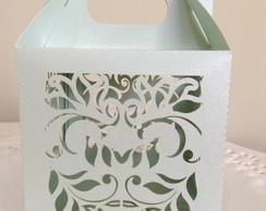 Caixa Folhas Verde para Cupcake