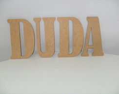 Letras Decorativas MDF Parede Cruas