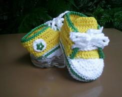 T�nis de Croch�- Verde/Amarelo