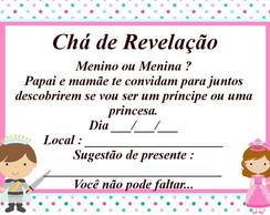 Convite ch� de revela��o com envelope