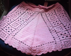 005 Crm- Avental Inteiro de Croch� Rosa