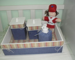 Kit higiene c/ suporte pra  algol em gel