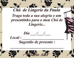 Convite Ch� De Lingerie Com Envelope
