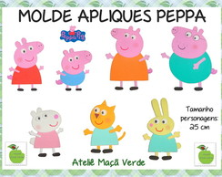 Molde painel e decora��o Peppa Pig