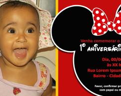Convite Anivers�rio Minnie Mickey