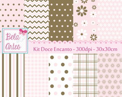 Kit Papel Digital Doce Encanto