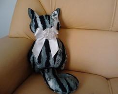Almofada gato em feltro