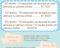 Doces e Cupcakes - Pacote Promocional