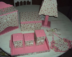 Kit beb� Floral- Rosa