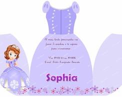 Convite vestido princesa Sofia