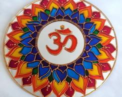 Mandala em Espelho OM 7 Chamas