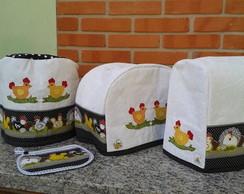 Capas cafeteira, torradeira,panela arroz