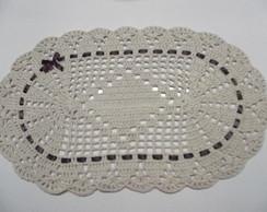 Tapete de croch� oval (pronta entrega)