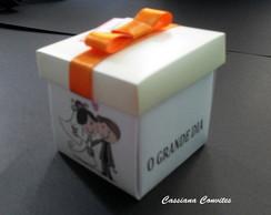 Convite de Casamento Jornal Fita Laranja