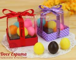 Caixa com Mini Ovos para o Lavabo